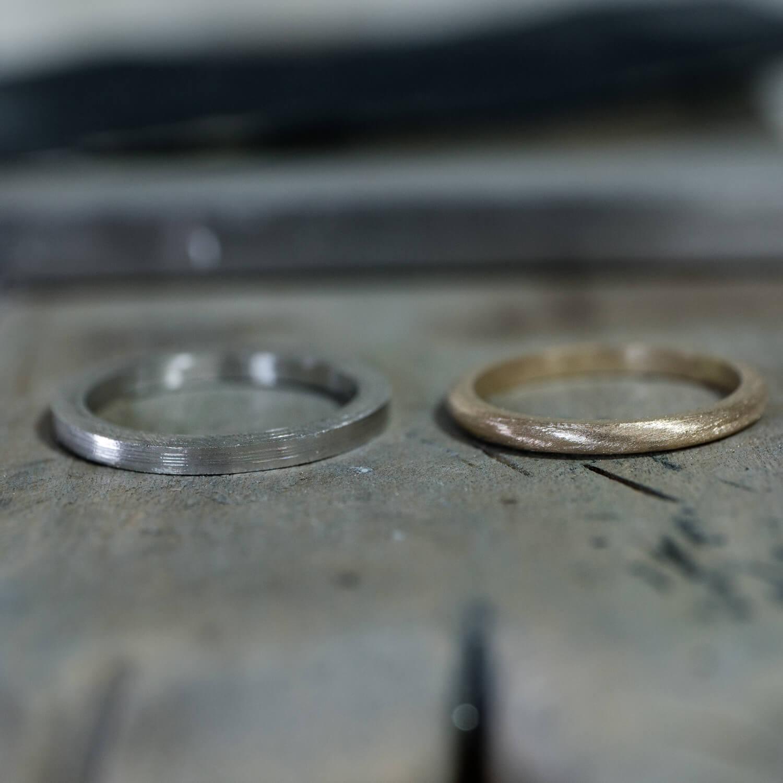 オーダーメイドマリッジリングの制作風景 屋久島ジュエリーのアトリエ ゴールド、プラチナ 屋久島でつくる結婚指輪