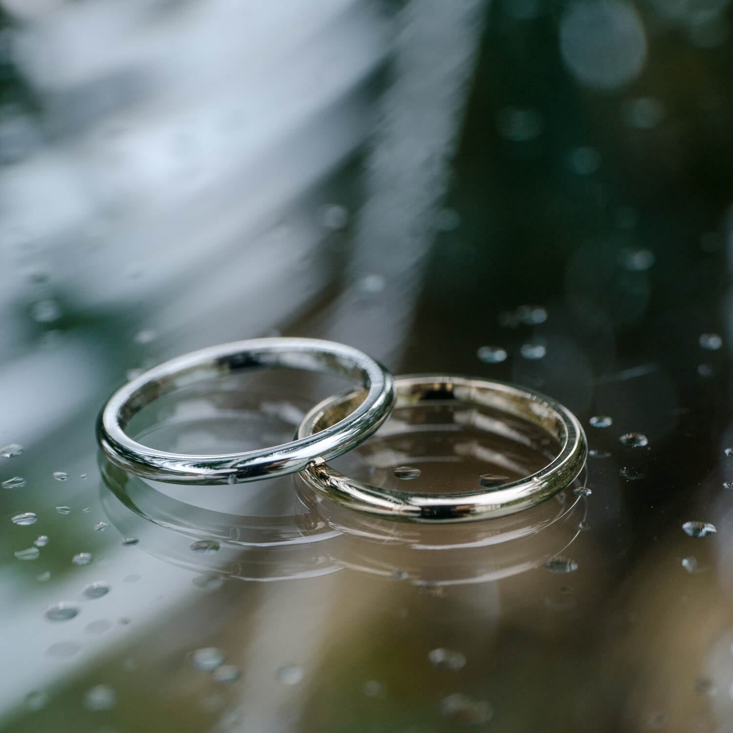 Making wedding rings in the spring time of Yakushima Island