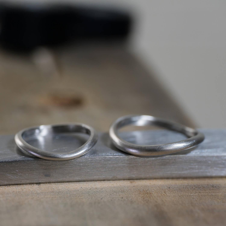 オーダーメイドマリッジリング 屋久島ジュエリーのアトリエ プラチナリング  屋久島でつくる結婚指輪