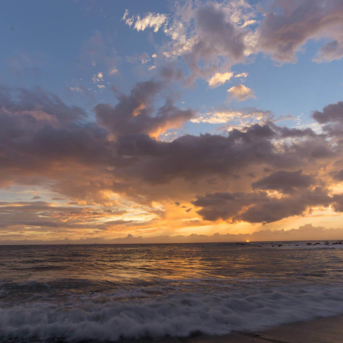 屋久島の海、空 夕暮れ時 屋久島海とジュエリー オーダーメイドジュエリーのモチーフ