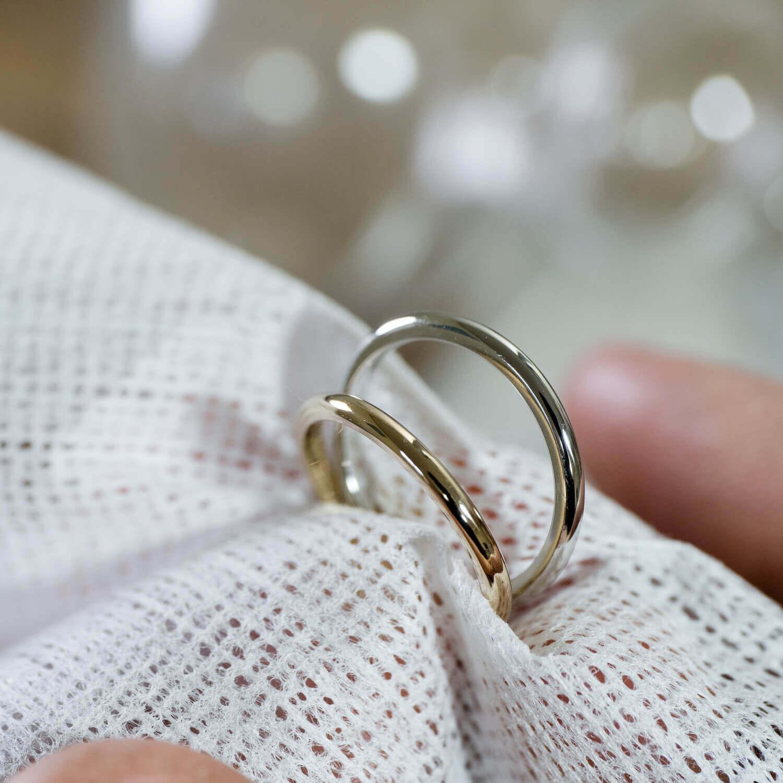 角度2 オーダーメイドマリッジリング 屋久島ジュエリーのアトリエ プラチナ、ゴールド 屋久島でつくる結婚指輪