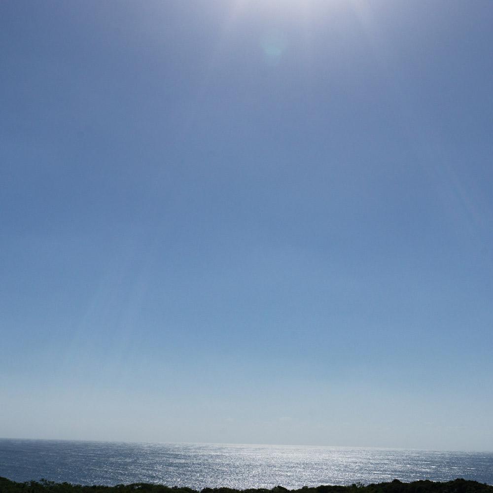 屋久島の海と空