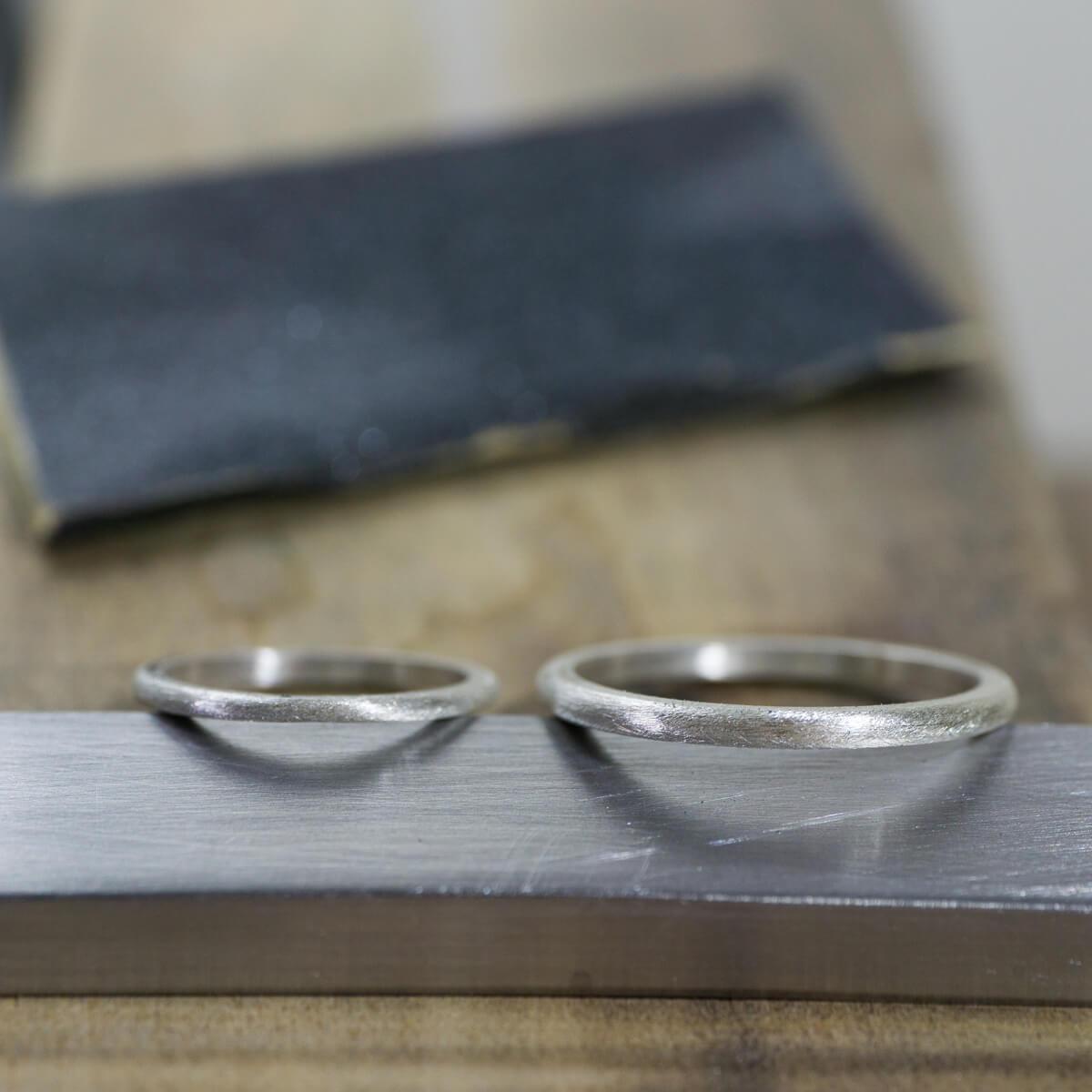 場面2 オーダーメイド結婚指輪 サンプルリングの制作風景 シルバー 屋久島でつくる結婚指輪