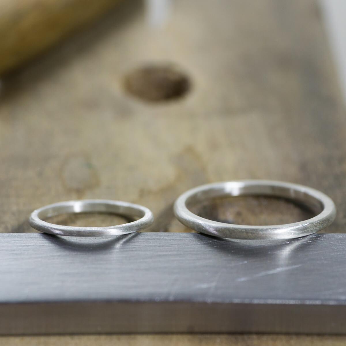 場面3 オーダーメイド結婚指輪 サンプルリングの制作風景 シルバー 屋久島でつくる結婚指輪