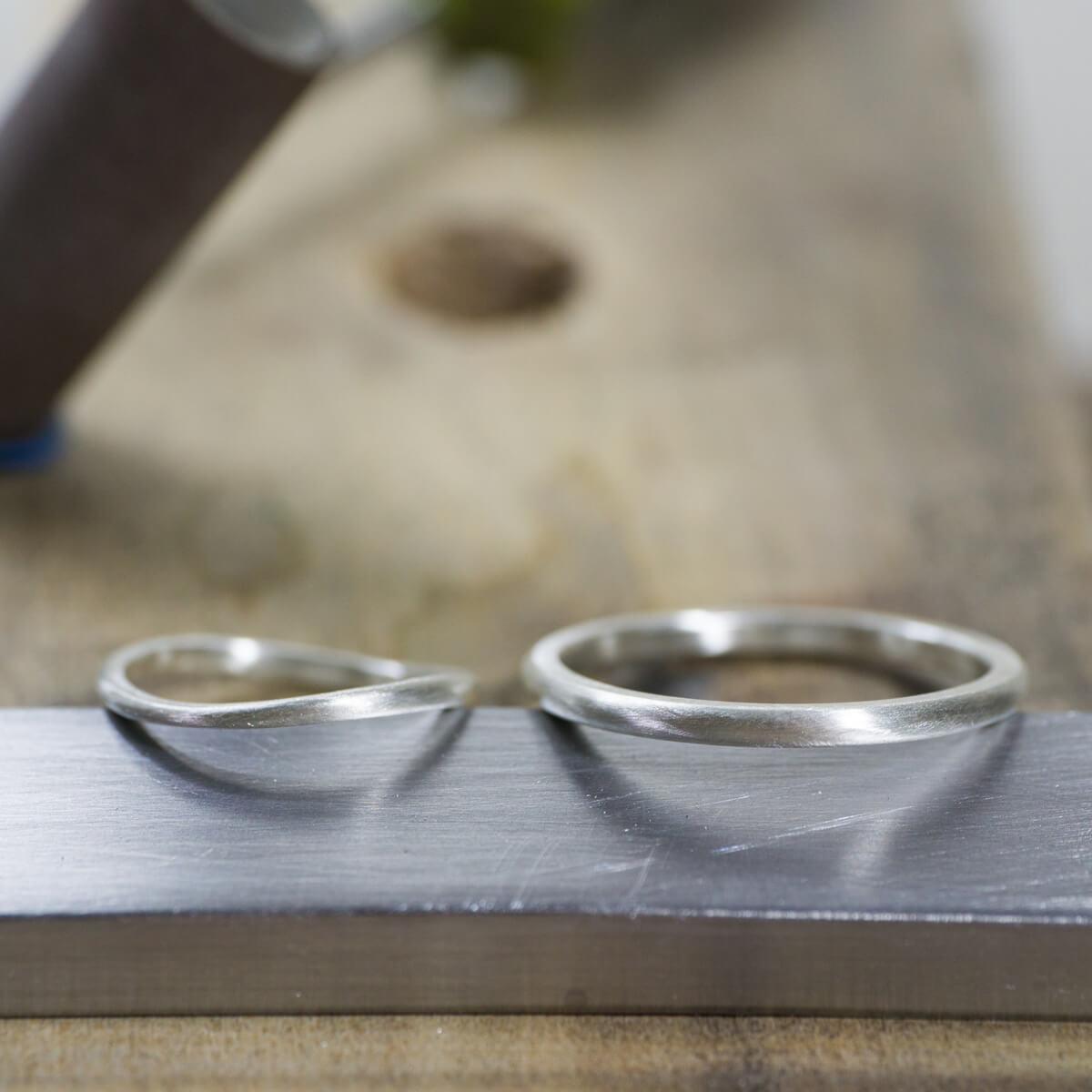 場面4 オーダーメイド結婚指輪 サンプルリングの制作風景 シルバー 屋久島でつくる結婚指輪