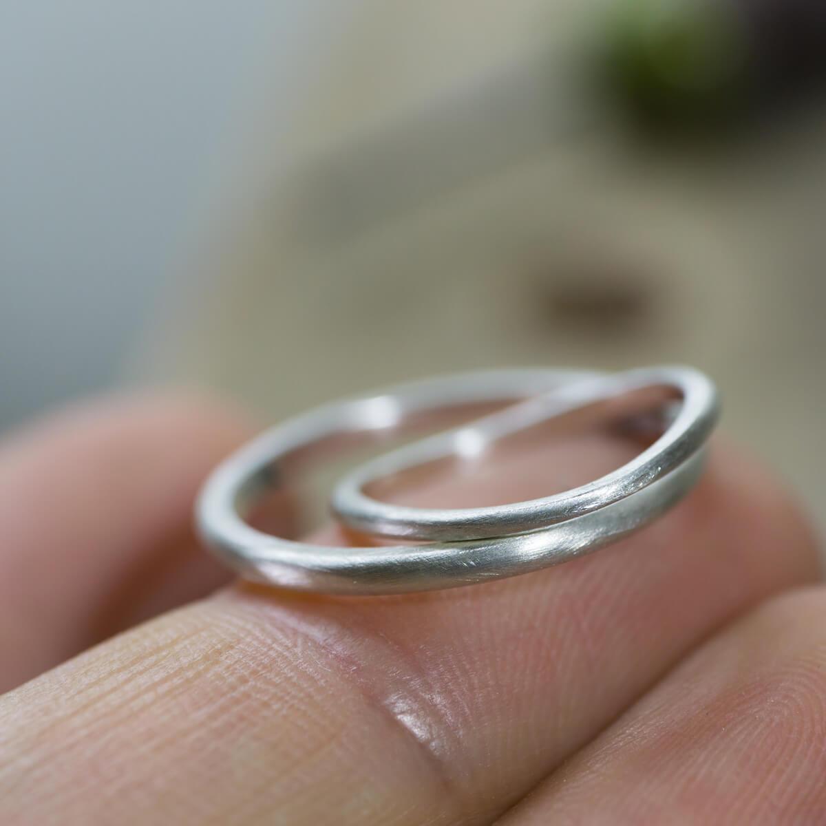 場面5 オーダーメイド結婚指輪 サンプルリングの制作風景 シルバー 屋久島でつくる結婚指輪