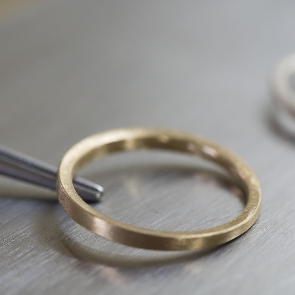 オーダメイドマリッジリング細作過程 ゴールドリング 屋久島で作る結婚指輪