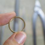 ジュエリーの制作風景 ゴールド×プラチナリング 屋久島で作る結婚指輪
