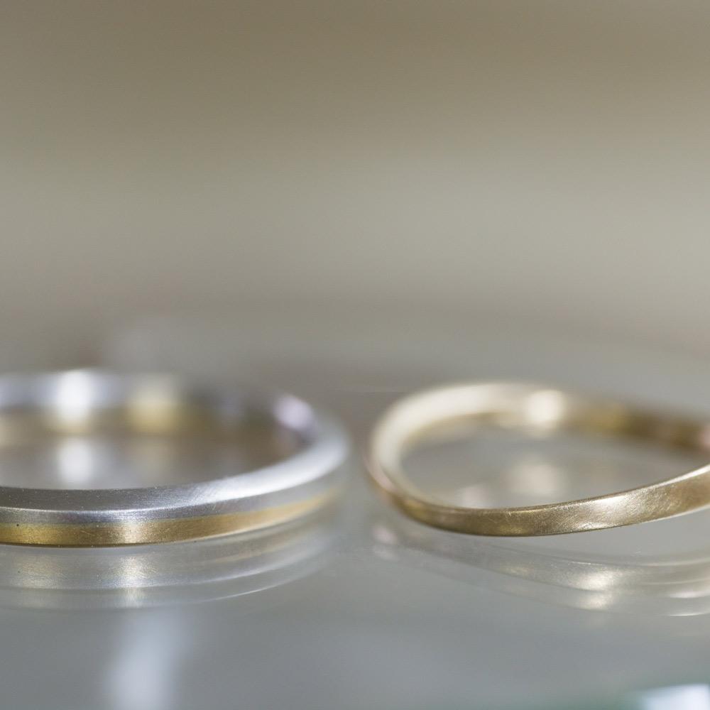 オーダーメイドのマリッジリング ゴールド、プラチナ 屋久島でつくる結婚指輪