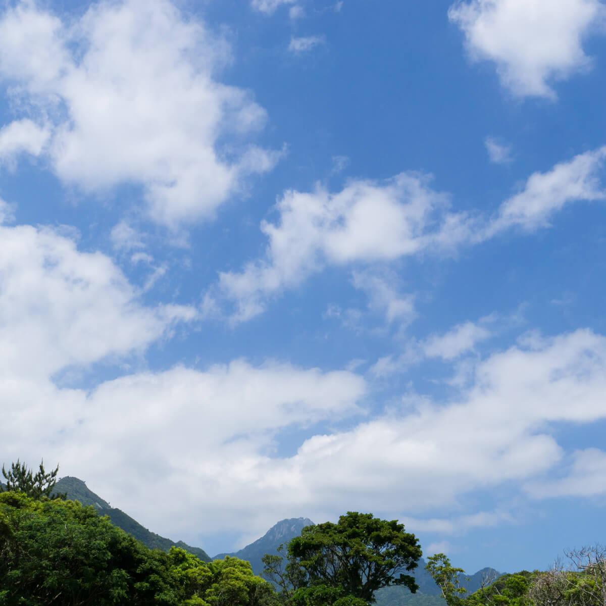 屋久島の山々、空 屋久島日々の暮らしとジュエリー オーダーメイドマリッジリングのインスピレーション