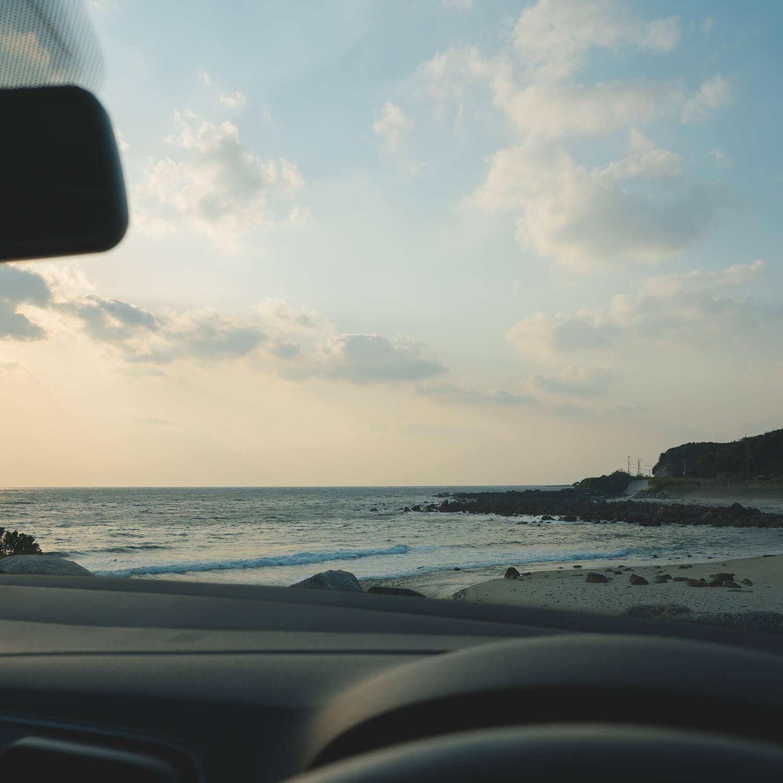 屋久島の海、空、夕暮れ 屋久島海とジュエリー オーダーメイドマリッジリングのモチーフ