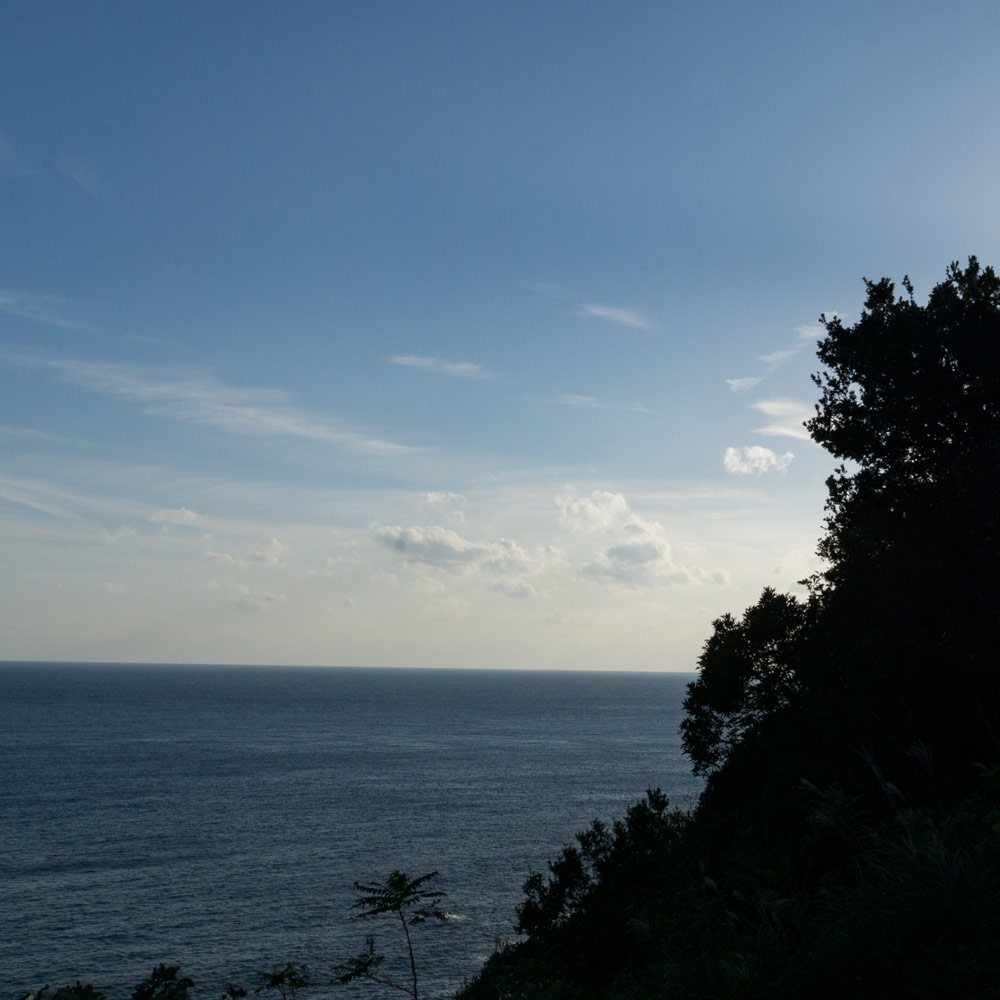 屋久島の海、空、夕日