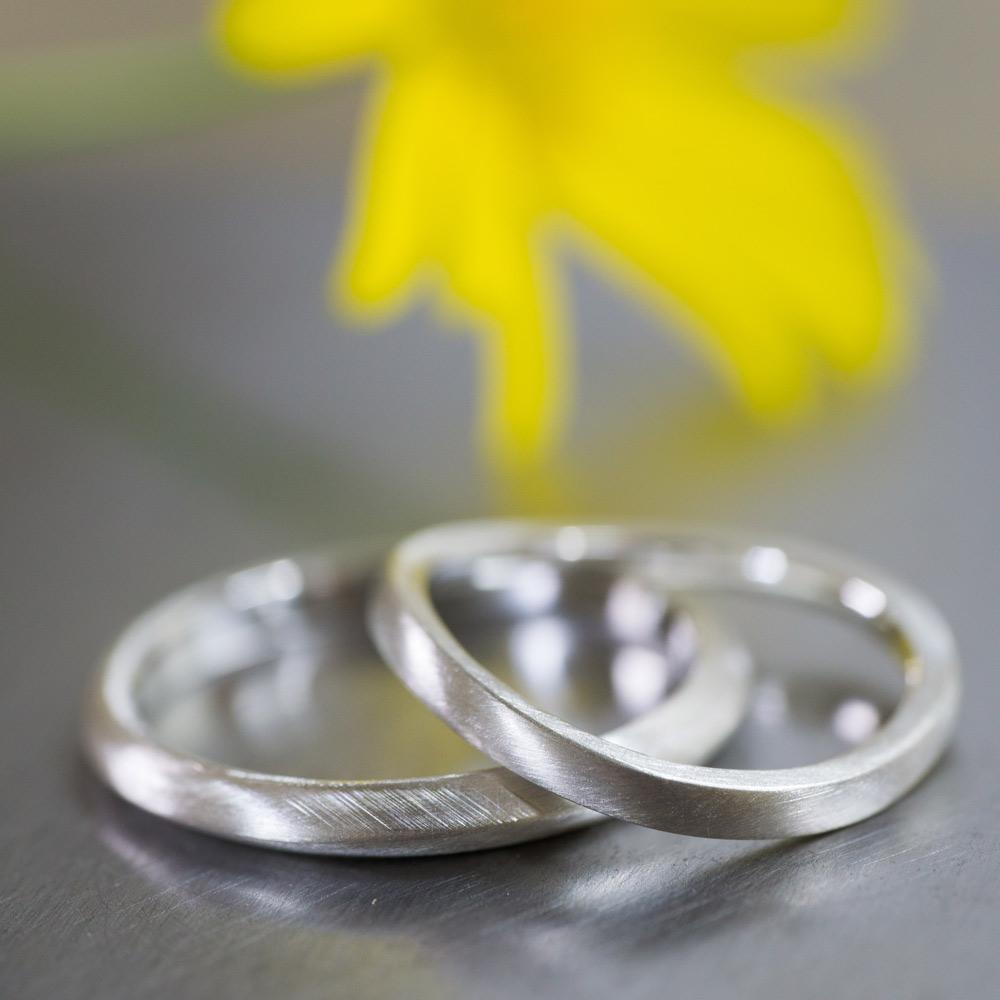 オーダーメイド マリッジリングのサンプル シルバー 屋久島で作る結婚指輪