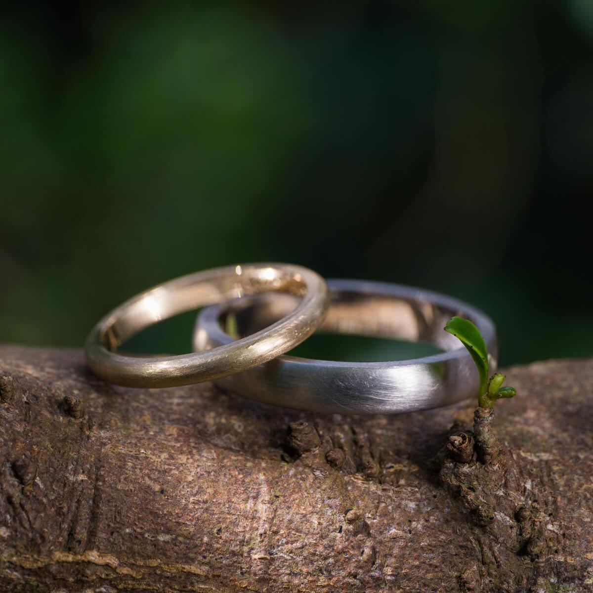 オーダーメイドマリッジリング 屋久島の木々に囲まれて プラチナ、ゴールド 屋久島でつくる結婚指輪