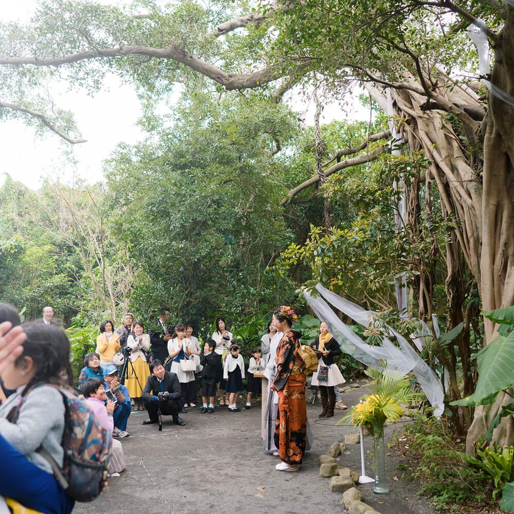 屋久島の森 結婚式 屋久島でつくる結婚指輪