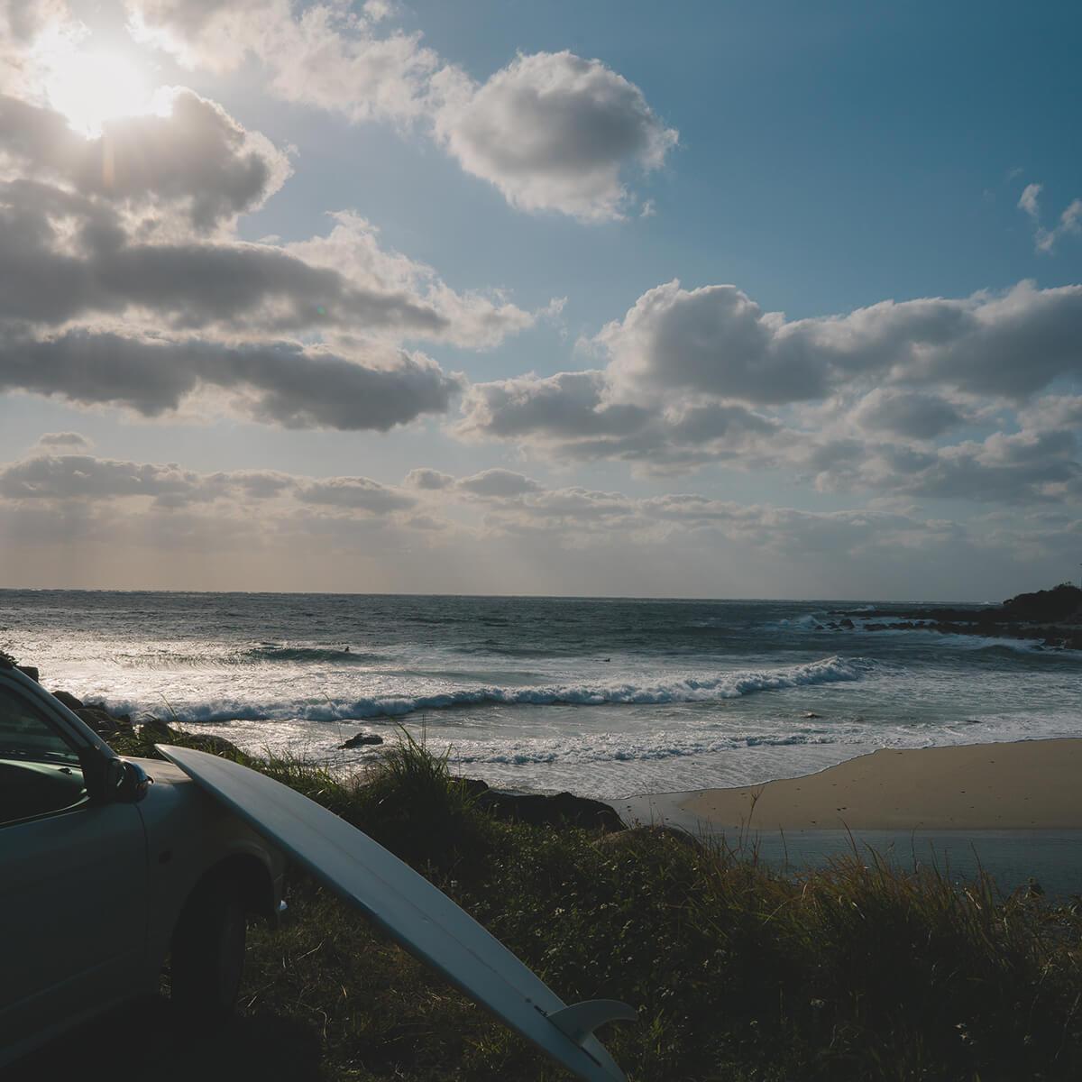 屋久島の海 サーフボード、車 屋久島海とジュエリー オーダーメイドマリッジリングのインスピレーション
