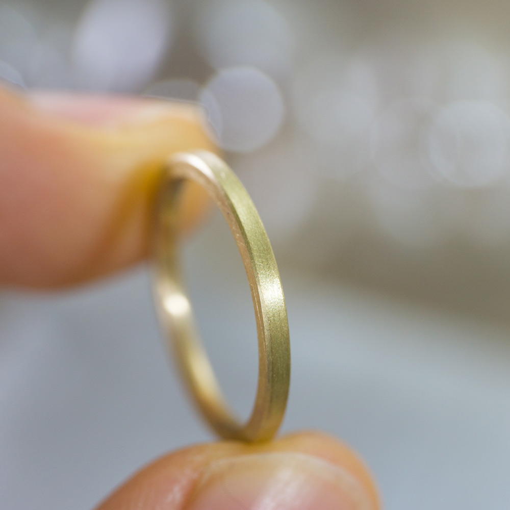角度2 オーダーメイドマリッジリング ゴールド 屋久島で作る結婚指輪