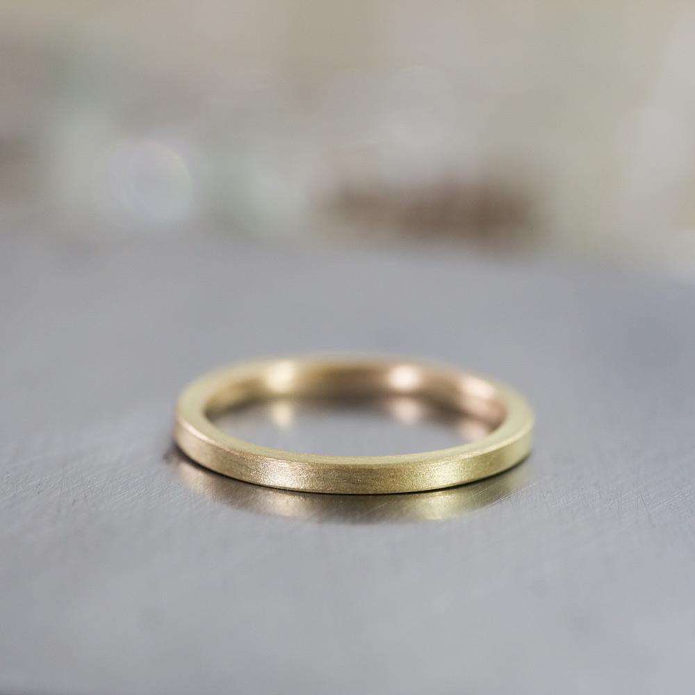角度4 オーダーメイドマリッジリング ゴールド 屋久島で作る結婚指輪