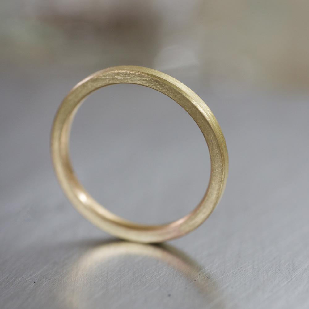 角度3 オーダーメイドマリッジリング ゴールド 屋久島で作る結婚指輪