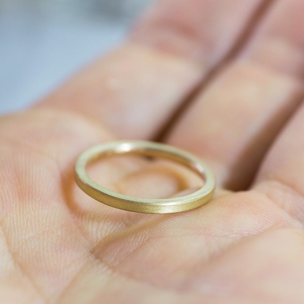 角度1 オーダーメイドマリッジリング ゴールド 屋久島で作る結婚指輪