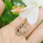 オーダーメイドマリッジリング 屋久島の緑バック プラチナ、ゴールド 屋久島で作る結婚指輪