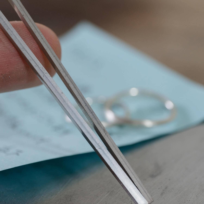 オーダーメイドマリッジリングの制作風景 ジュエリーのアトリエ プラチナ 屋久島でつくる結婚指輪