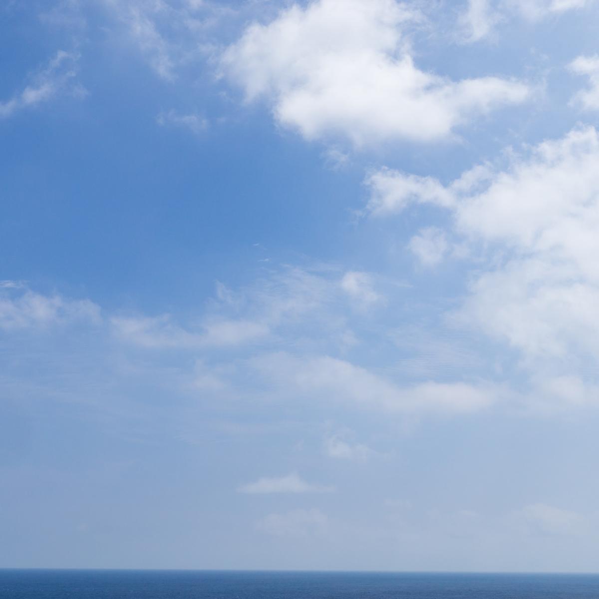 屋久島の海、空、水平線 オーダーメイドマリッジリングのモチーフ 屋久島でつくる結婚指輪