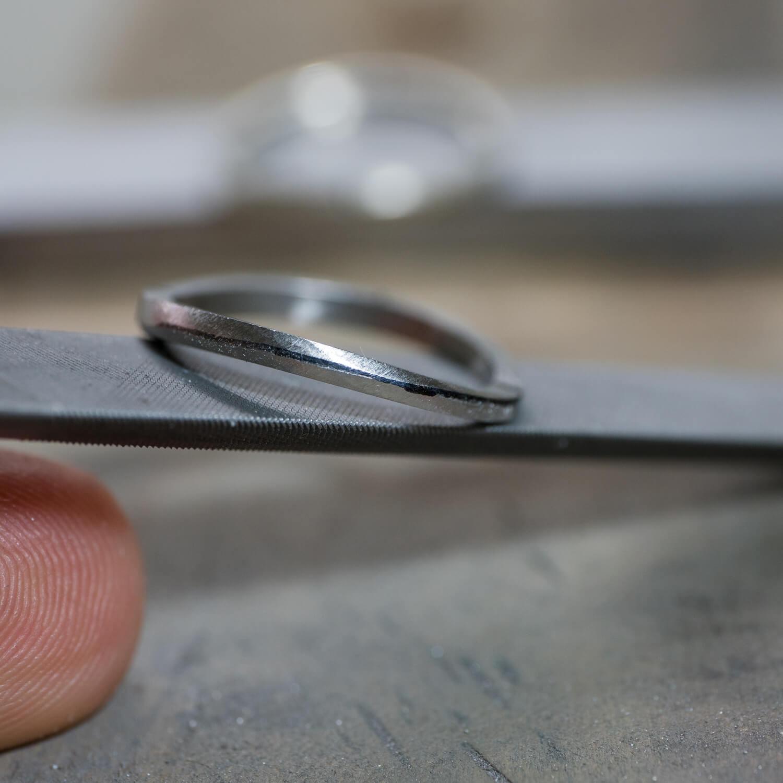 オーダーメイドマリッジリングの制作風景 ジュエリーのアトリエ プラチナリング 屋久島でつくる結婚指輪