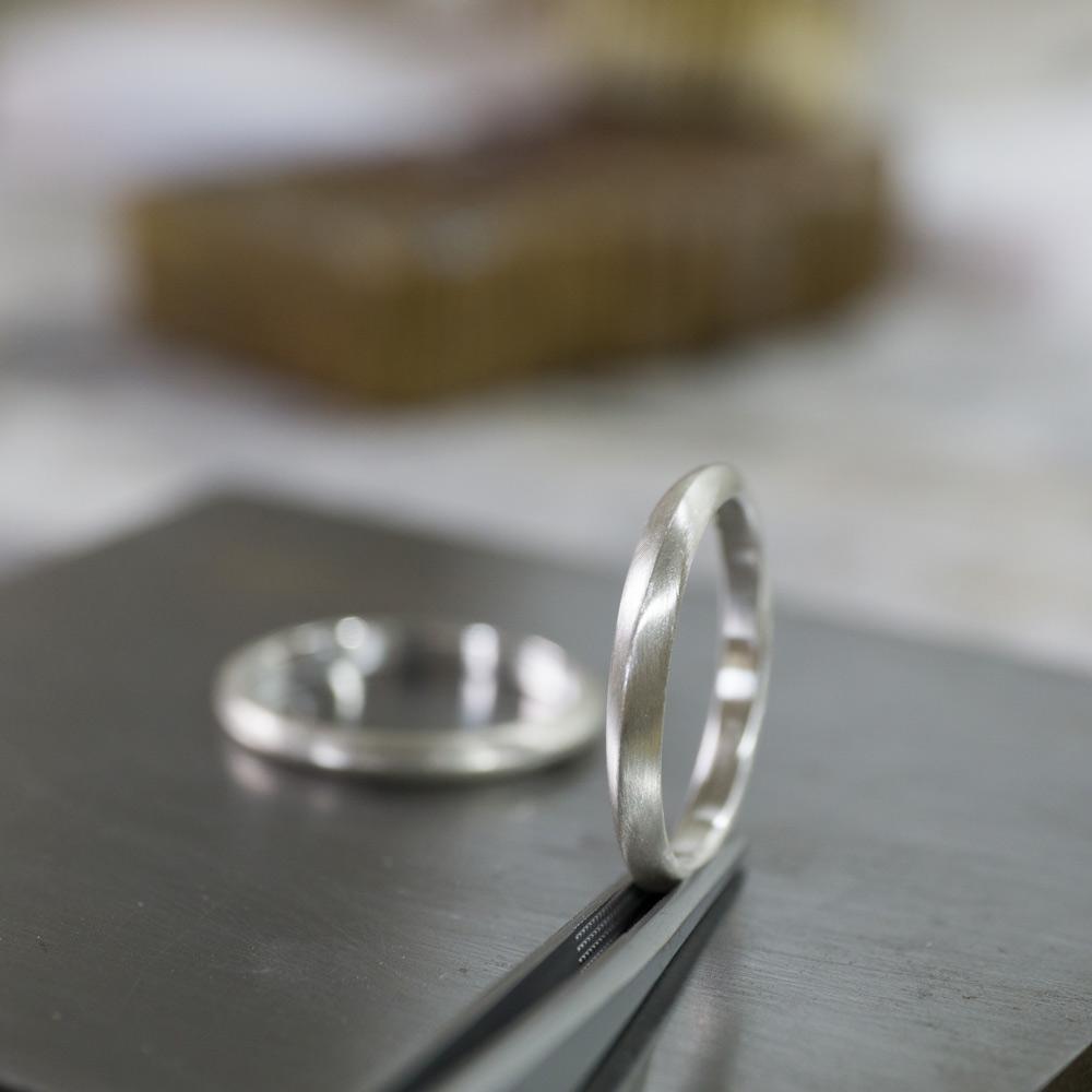 オーダーメイドマリッジリングの制作風景 シルバー、サンプルリング 屋久島で作る結婚指輪