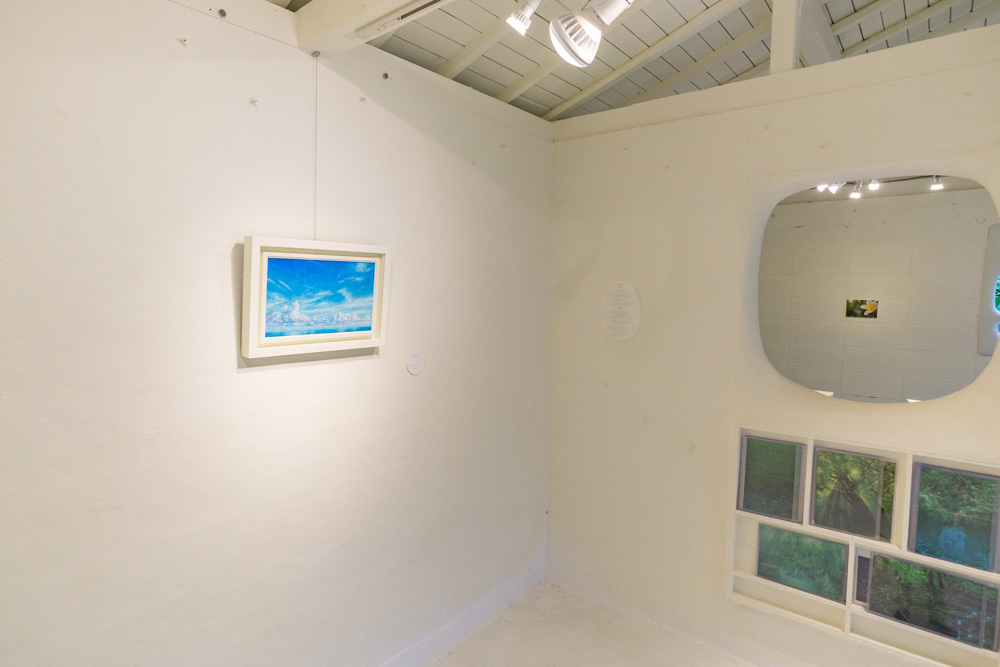 屋久島しずくギャラリー 高田裕子 絵画作品 屋久島の海
