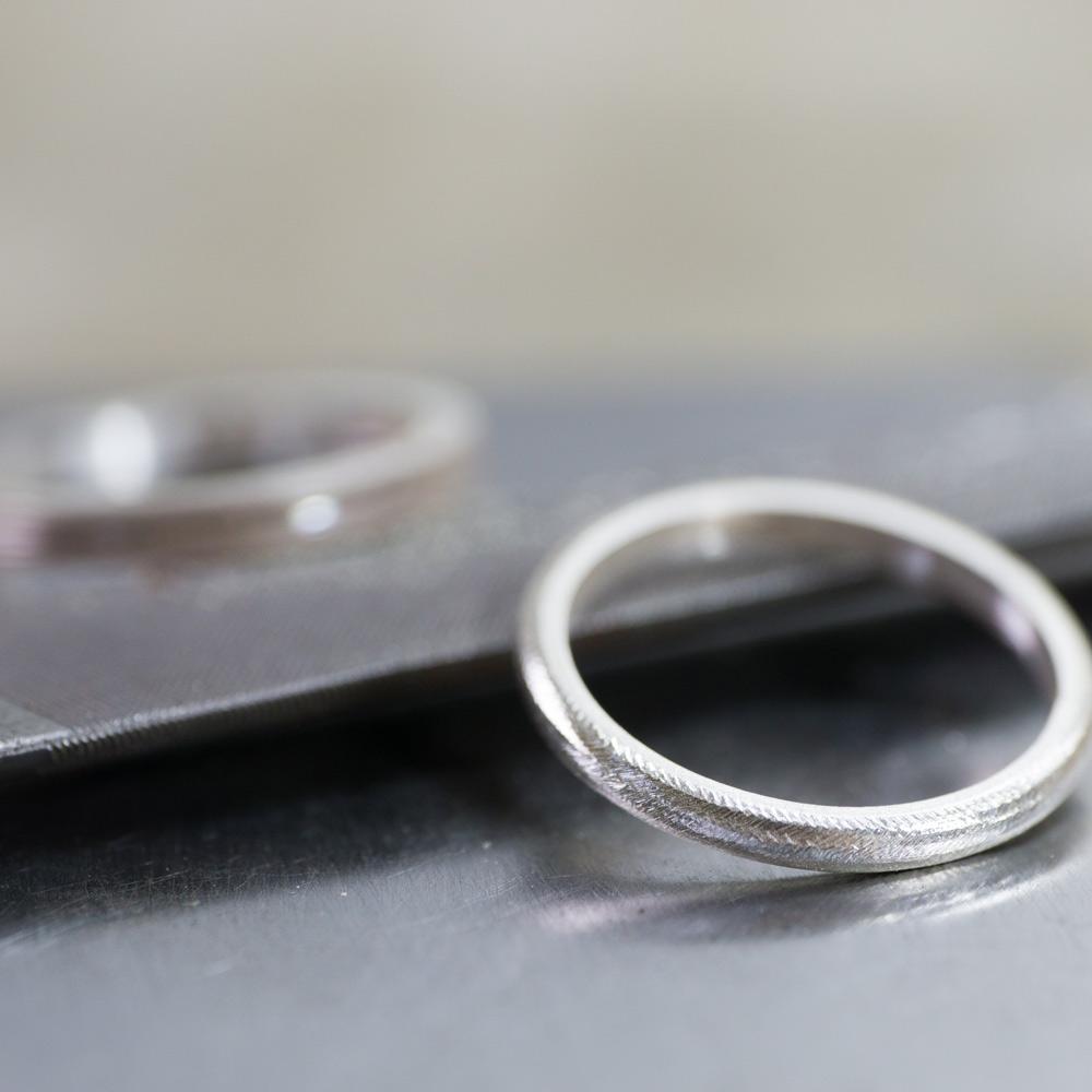 オーダーメイドマリッジリングの制作風景 シルバーのサンプルリング 屋久島で作る結婚指輪
