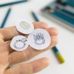 ジュエリーのデザイン風景 オーダーメイドベビーリング 屋久島で作る結婚指輪