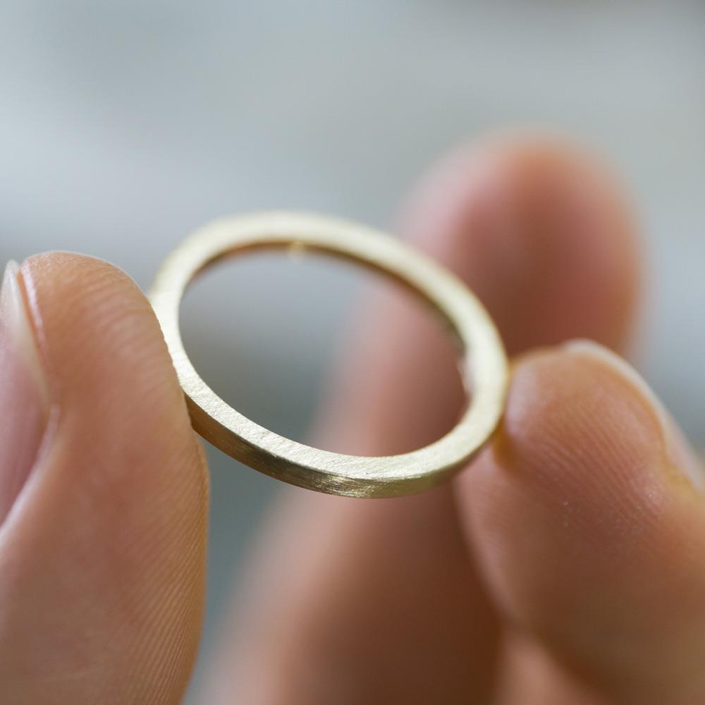 オーダーメイドマリッジリングの制作風景 ジュエリーのアトリエ ゴールド 屋久島で作る結婚指輪