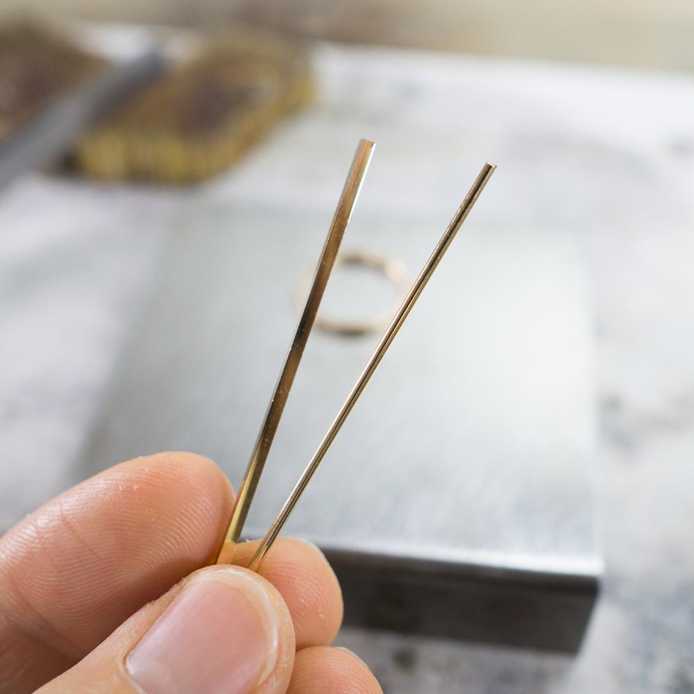 オーダーメイドマリッジリングの素材 ジュエリーのアトリエ ゴールド 屋久島で作る結婚指輪