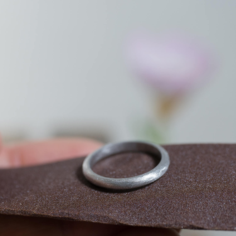 場面2 オーダーメイドマリッジリングの制作風景 屋久島ジュエリーのアトリエ プラチナ 屋久島でつくる結婚指輪