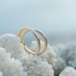 オーダーメイドマリッジリング 屋久島の海バック プラチナ、ゴールド 屋久島でつくる結婚指輪