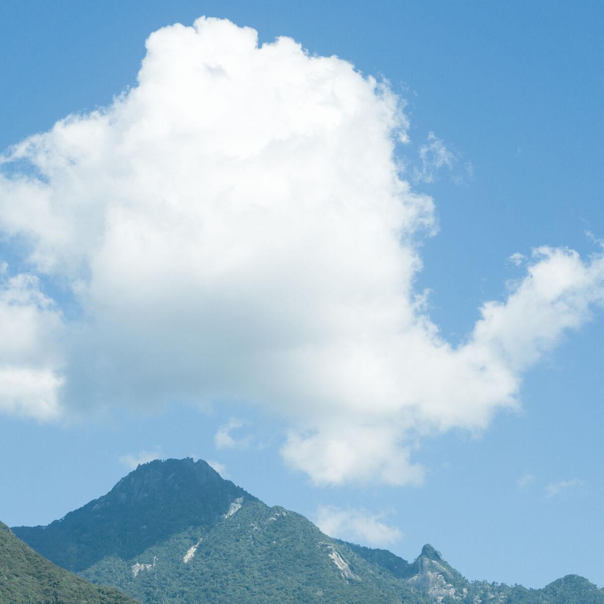 屋久島の空、山々、雲 屋久島日々の暮らしとジュエリー、オーダーメイドマリッジリングのモチーフ