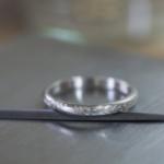 オーダーメイドマリッジリング ジュエリーのアトリエ プラチナリング 屋久島のシダモチーフ 屋久島でつくる結婚指輪