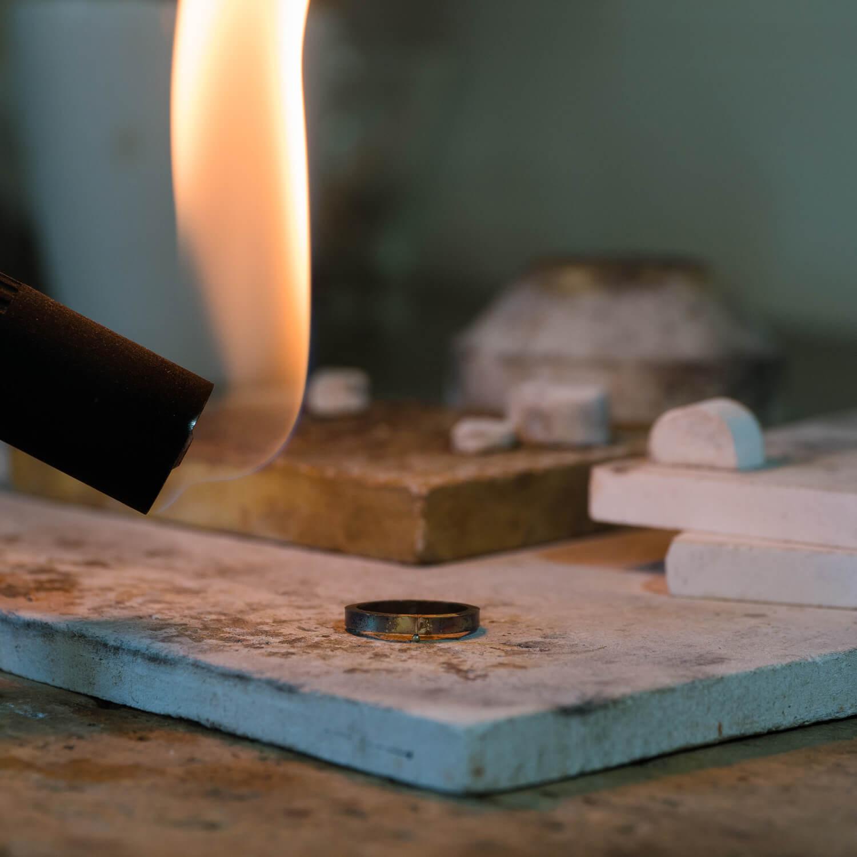 オーダーメイドマリッジリングの制作過程 屋久島ジュエリーのアトリエ ゴールドリング 屋久島でつくる結婚指輪