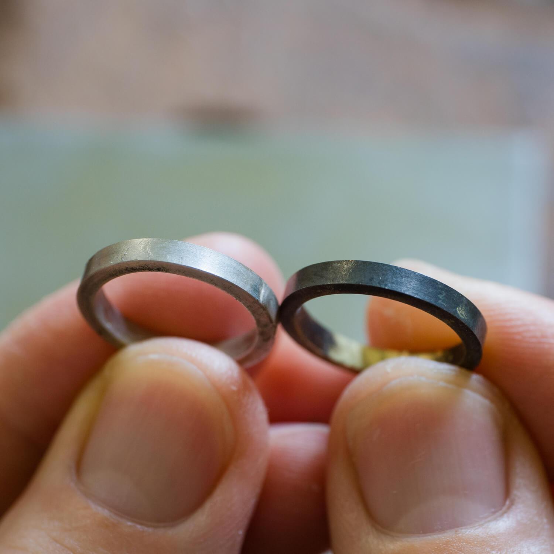 オーダーメイドマリッジリングの制作過程 屋久島ジュエリーのアトリエ ゴールドリング、プラチナリング  屋久島でつくる結婚指輪