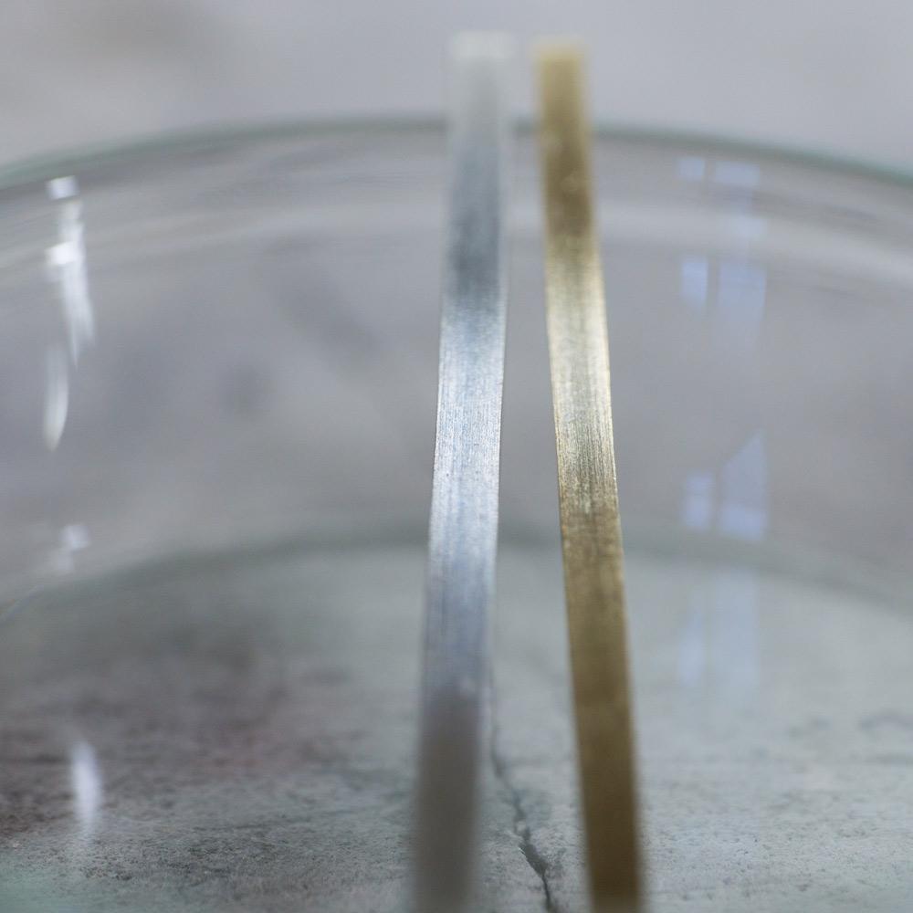 クローズアップ オーダーメイドマリッジリングの素材 ジュエリーのアトリエ  プラチナ、ゴールド 屋久島で作る結婚指輪