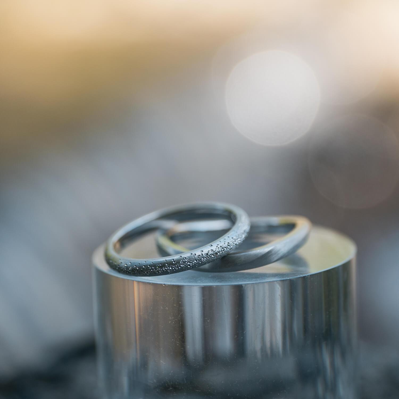 オーダーメイドマリッジリング 屋久島の水バック プラチナ  屋久島の森モチーフ 屋久島でつくる結婚指輪