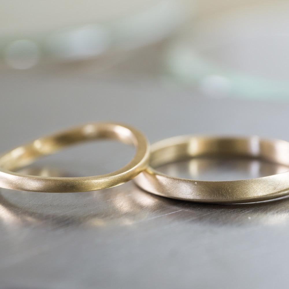 オーダーメイドマリッジリング  屋久島の山海モチーフ ゴールド 屋久島で作る結婚指輪