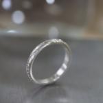 オーダーメイドマリッジリング ジュエリーのアトリエ シルバー 屋久島のシダモチーフ 屋久島でつくる結婚指輪
