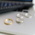 結婚指輪のサンプルリング 屋久島のシダモチーフ ゴールド、プラチナ、シルバー 屋久島でつくる結婚指輪