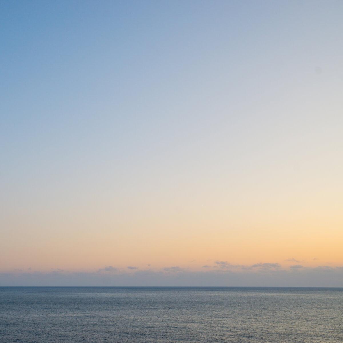 屋久島の海 夕暮れ時 屋久島海とジュエリー オーダーメイドマリッジリングのインスピレーション
