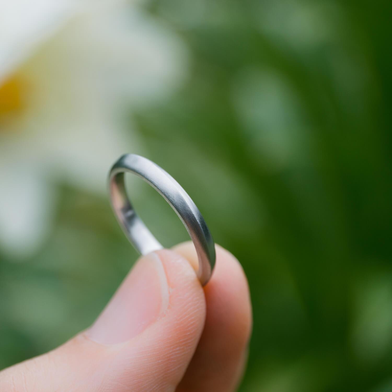 オーダーメイドマリッジリング 屋久島の緑バック プラチナ 屋久島でつくる結婚指輪
