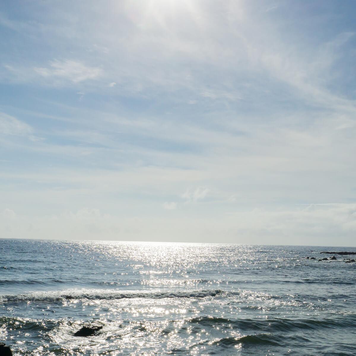 屋久島の海、空、キラキラ 屋久島海とジュエリー 屋久島でオーダーメイドジュエリー