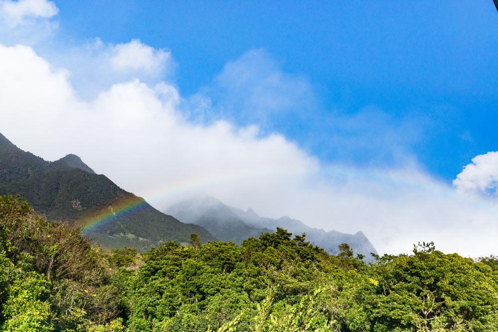 屋久島の空、山々、虹 屋久島日々の暮らしとジュエリー