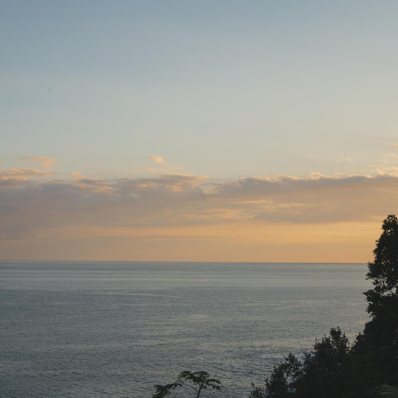海、空、屋久島の夕暮れ時 屋久島海とジュエリー